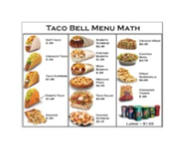Taco Bell Math