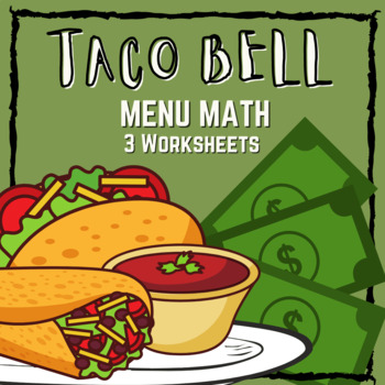 graphic about Printable Taco Bell Applications named Taco Bell Menu Math