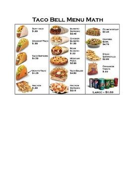 Taco Bell Multiplying Decimals