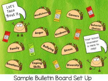 Taco 'Bout It: School Counselor Bulletin Board Set