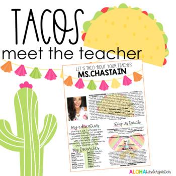 Taco 'Bout Teacher: Meet the Teacher/Welcome Letter: TACOS