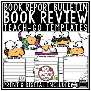 Taco 'Bout Themed Book Review Bulletin Board & Templates Teach-Go Pennants®