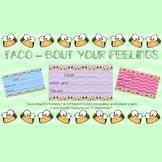 Taco-Bout Your Feelings - I Statement - Posters and Worksheet