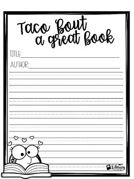 Taco 'Bout a Great Book {Book Recommendation Bulletin Board Display}