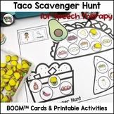 Taco Cinco de Mayo Scavenger Hunt BOOM Cards for PreK Speech Therapy