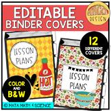 Taco Classroom Decor: EDITABLE Binder Covers