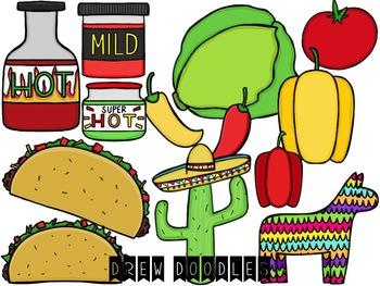 Taco Digital Clip Art Set