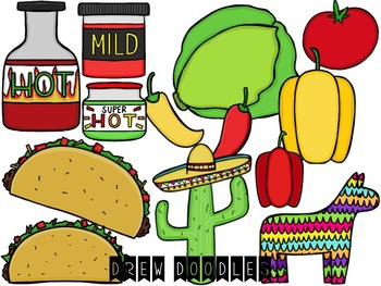 Taco Digital Clip Art Set