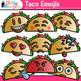 Taco Emoji Clip Art | Cinco de Mayo Emoticons and Smiley Faces for Brag Tags