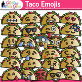 Taco Emoji Clip Art | Cinco de Mayo Emoticons and Smiley Faces for Teachers