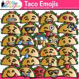 Taco Emoji Clip Art | Cinco de Mayo Emoticons and Smiley F