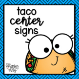 Taco / Food Themed Center Signs