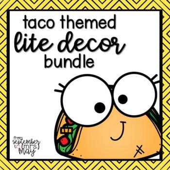 Taco / Fiesta LITE Decor (growing) Bundle
