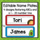 Taco / Fiesta Name Plates and Labels for Target Adhesive Pockets (editable!)
