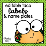 Taco Themed Name Plates and Labels for Target Adhesive Pockets (editable!)