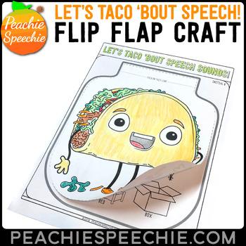 Taco Speech and Language Flip Flap Crafts