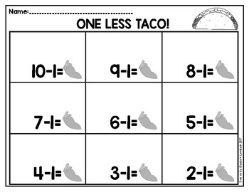 Taco Subtraction
