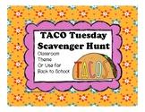 Taco Truck Scavenger  Hunt