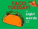 Taco Tuesday Sight Words or CVC Word Work Activity (Freebie!!)