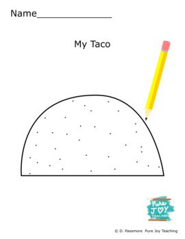 Taco Worksheet Free coloring page Inspire stories