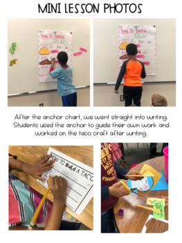 Taco Writing Activity, K-3