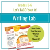 Writing Lab for Kids 8-12 All About TACOS!