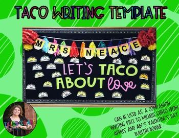 Taco Writing Template