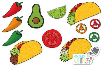 Taco and Jalapeno Clip Art