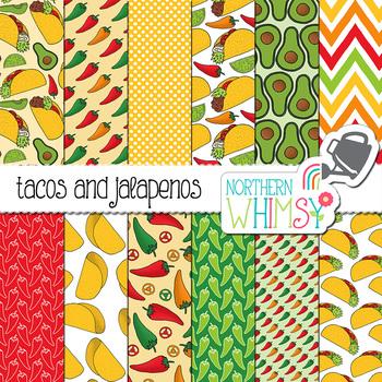 Taco and Jalapeno Digital Paper