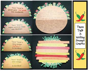 """""""Taco 'bout Fun!"""" Writing Prompt Craftivity"""