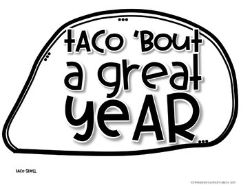 Taco 'bout a Great Year! End of the Year Activities