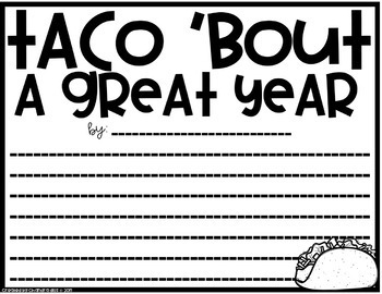 Taco 'bout a lot of Fun! For Book, Summer, and End of the Year!