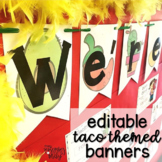 Taco / fiesta themed banner