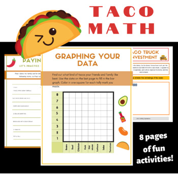 Tacos Fun Math Games For Kids By Little Earthling Explorations Tpt