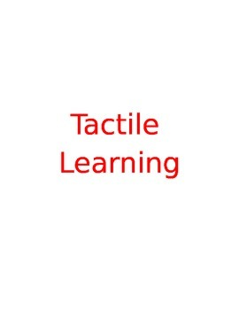 Tactile Learning