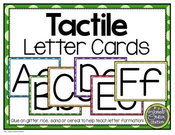 Tactile Letter Cards FREEBIE