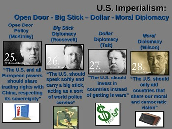 Taft's DOLLAR DIPLOMACY fun, easy, engaging PPT & Primary Source Handout