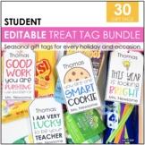 Student Gift Tags | Editable Treat Tags