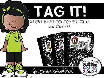 Tag It!  Subject Journal and Folder Labels