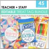 Editable Teacher Appreciation Tags for Teachers and Staff | Teacher Gift Tags