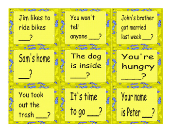 Tag Question Cards