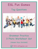 Tag Questions 3 Photo Worksheet Set