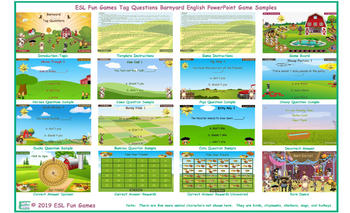 Tag Questions Barnyard English PowerPoint Game