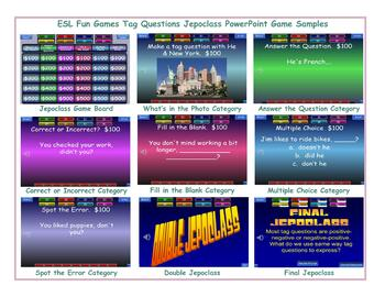 Tag Questions Jeopardy PowerPoint Game