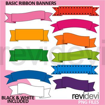 Tag Ribbon Flower Clipart Bundle