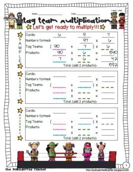 Tag Team Multiplication – Partial Product Multiplication 4.NBT.5