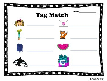 Tag You're It-Letter & Sounds Picture Sort and Game