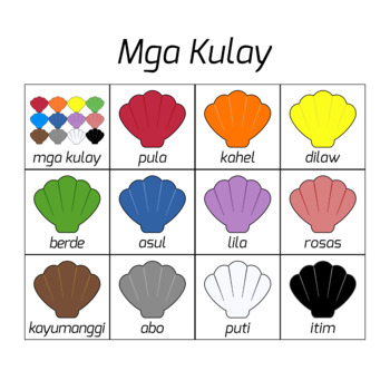 Tagalog Colors / Colors in Tagalog Language (High Resolution)