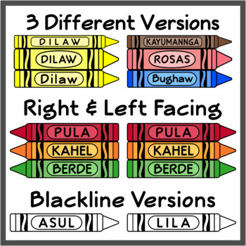 Tagalog Crayons / Tagalog Colors (High Resolution)