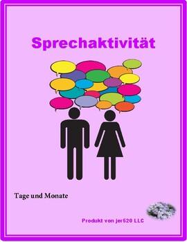 Tage und Monate (Days and Months in German) Partner Speaking activity